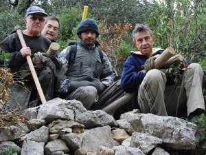 Entretien du sentier botanique et de la partie rocailleuse